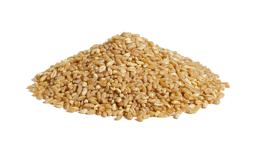 DURUM WHEAT - It's has high contents of fiber and, thanks to our natural steam precooking process, it doesn't need soaking before the cooking. It's generally used for preparing soups with legumes and salads.